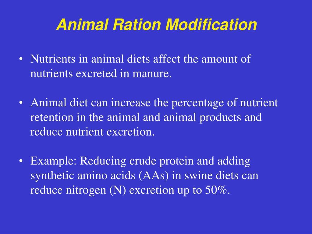 Animal Ration Modification