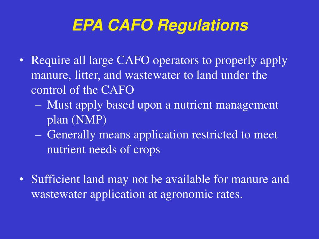 EPA CAFO Regulations
