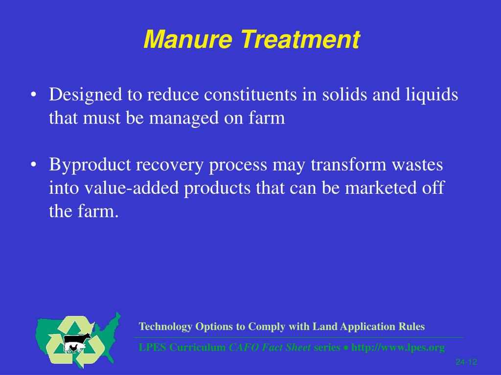 Manure Treatment