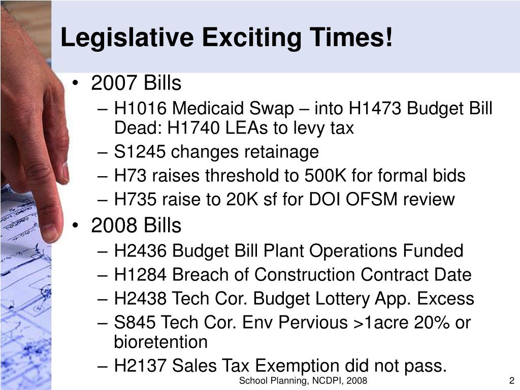 Legislative Exciting Times!