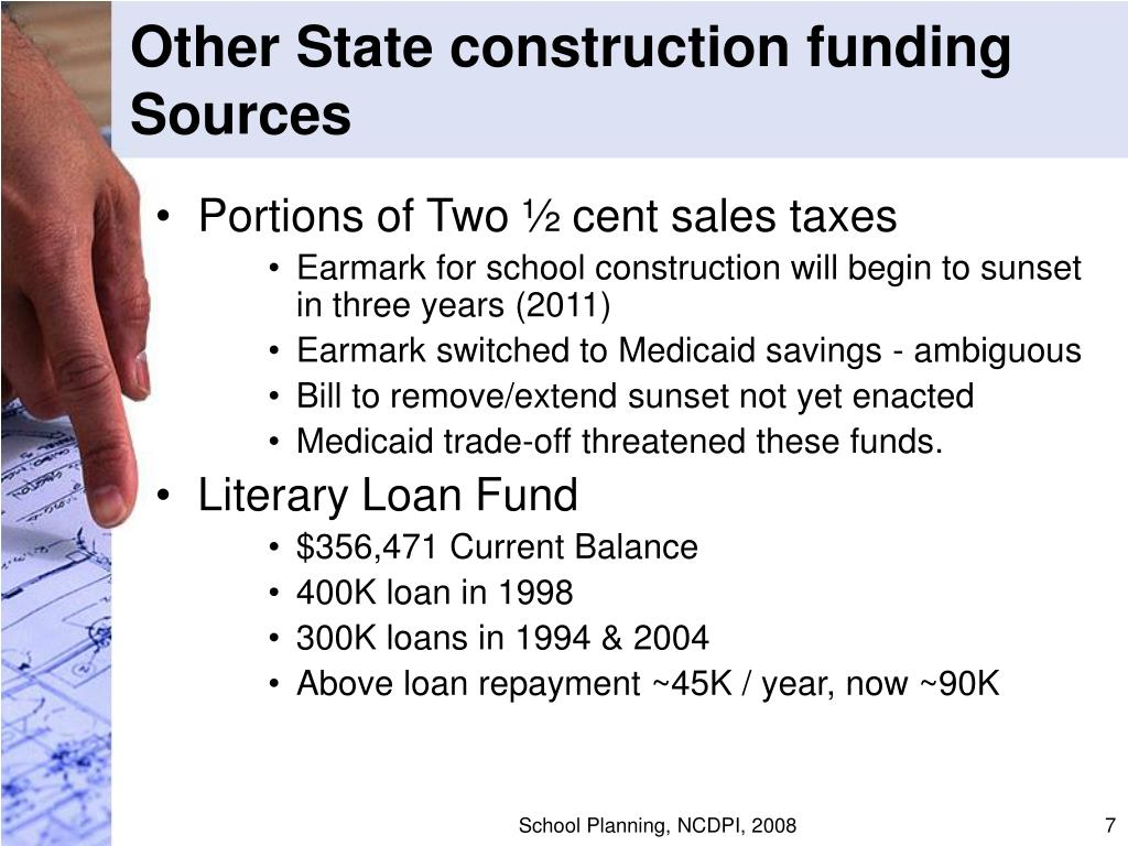 Other State construction funding Sources