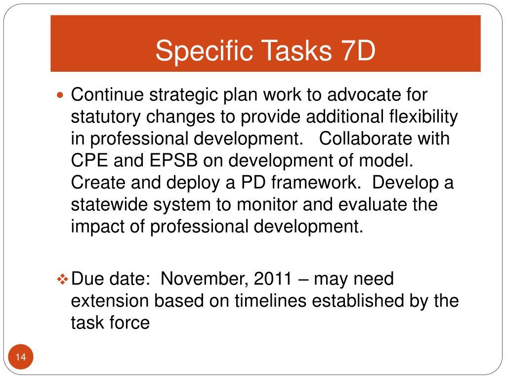 Specific Tasks 7D