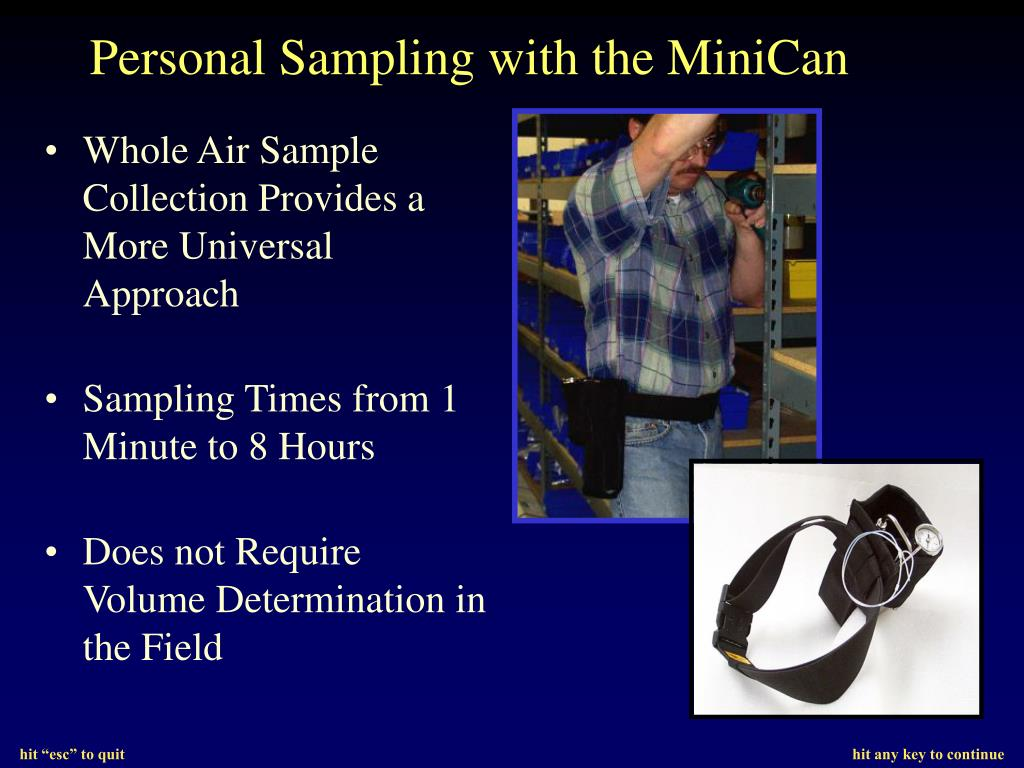 Personal Sampling with the MiniCan