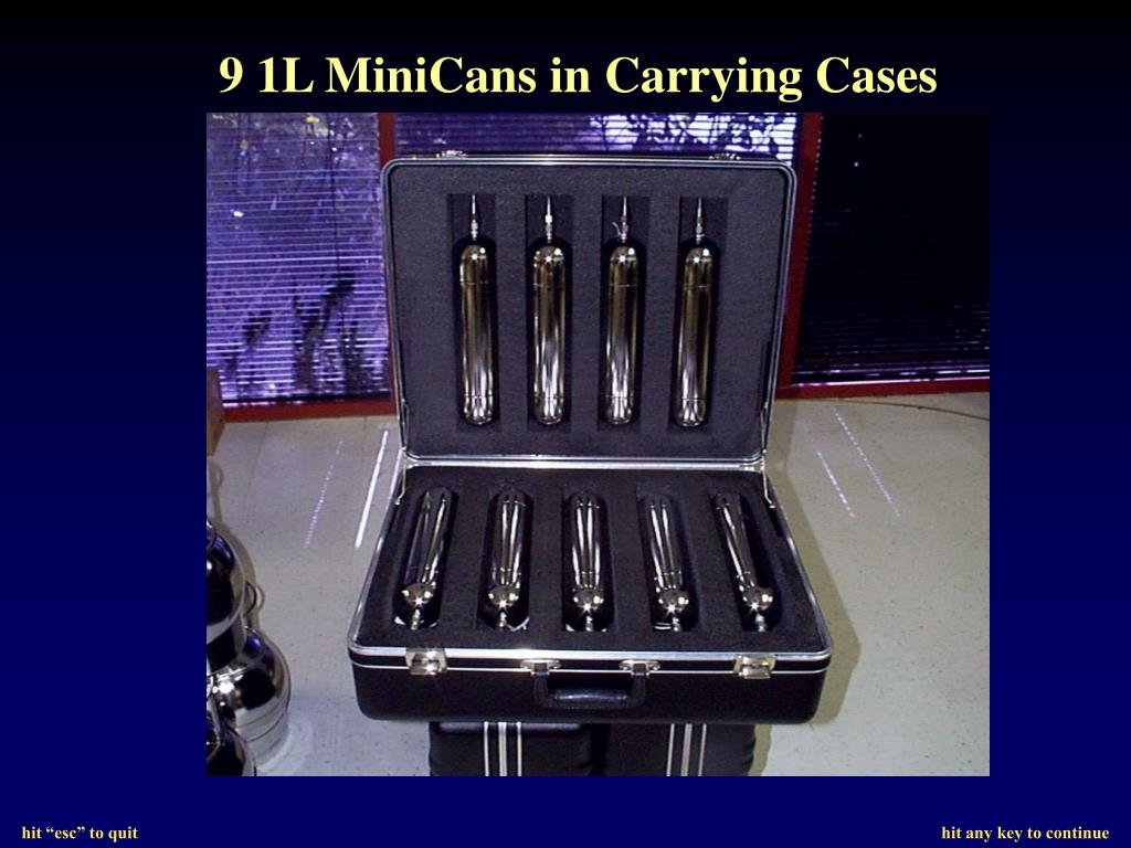 9 1L MiniCans in Carrying Cases