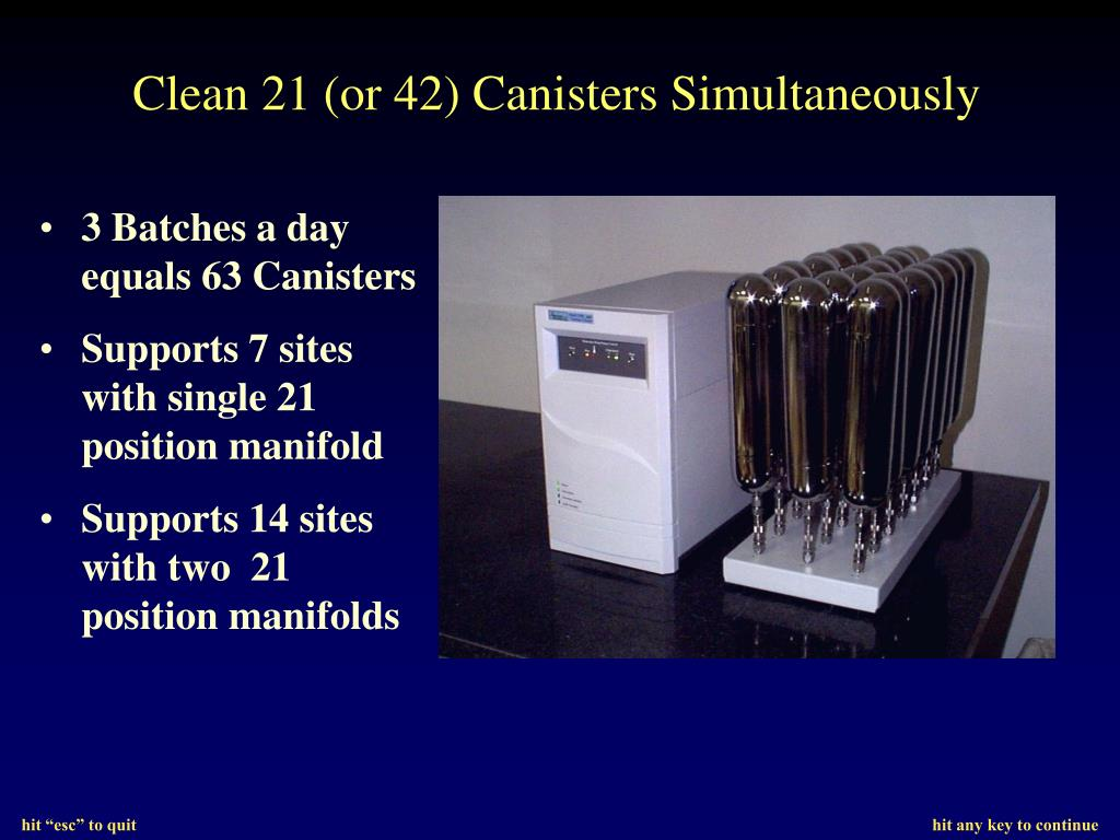 Clean 21 (or 42) Canisters Simultaneously