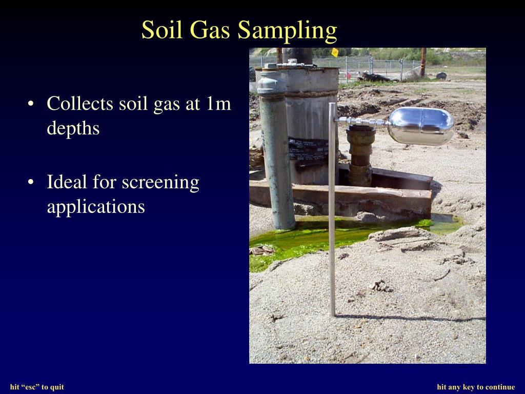 Soil Gas Sampling