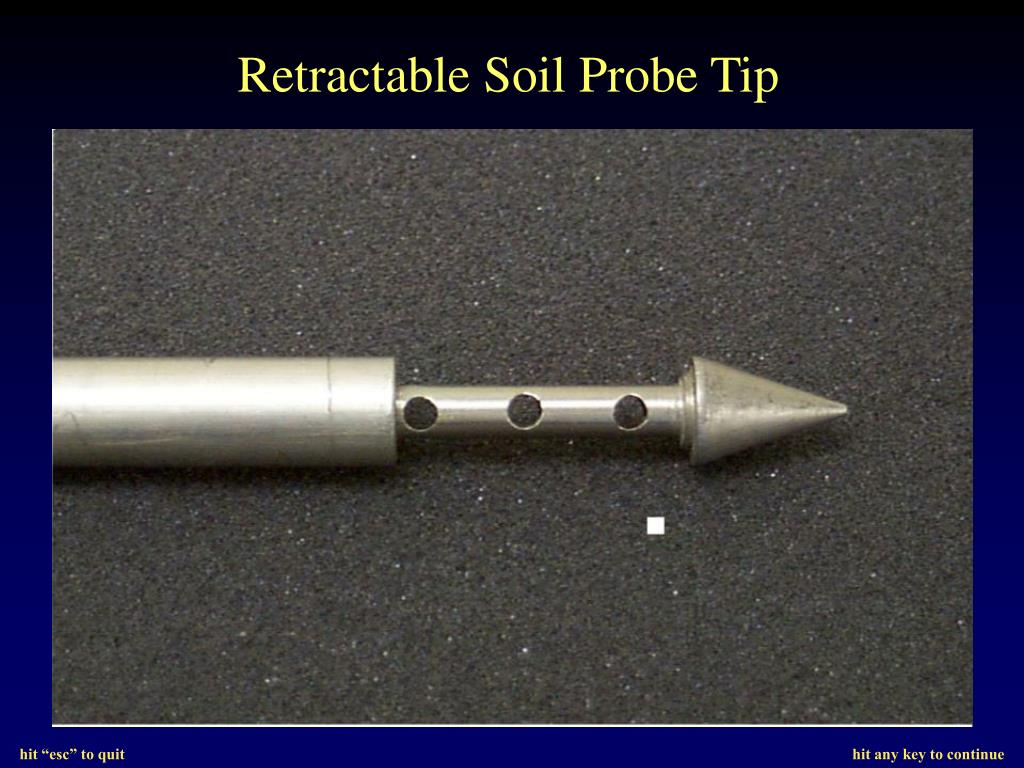 Retractable Soil Probe Tip