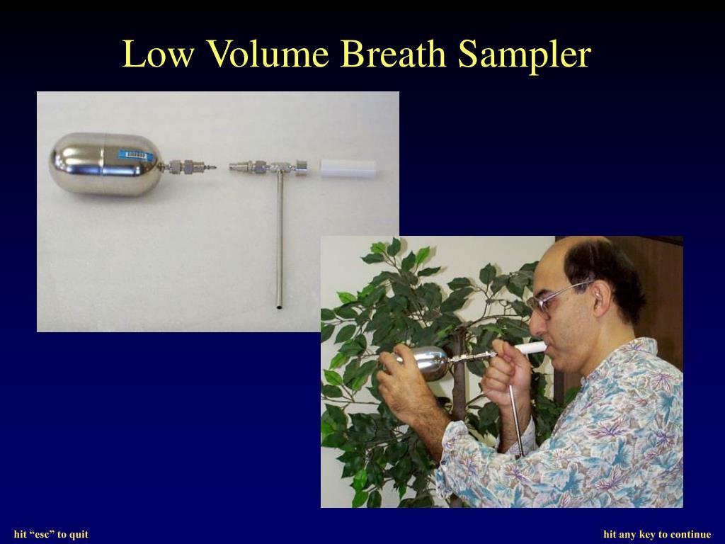 Low Volume Breath Sampler