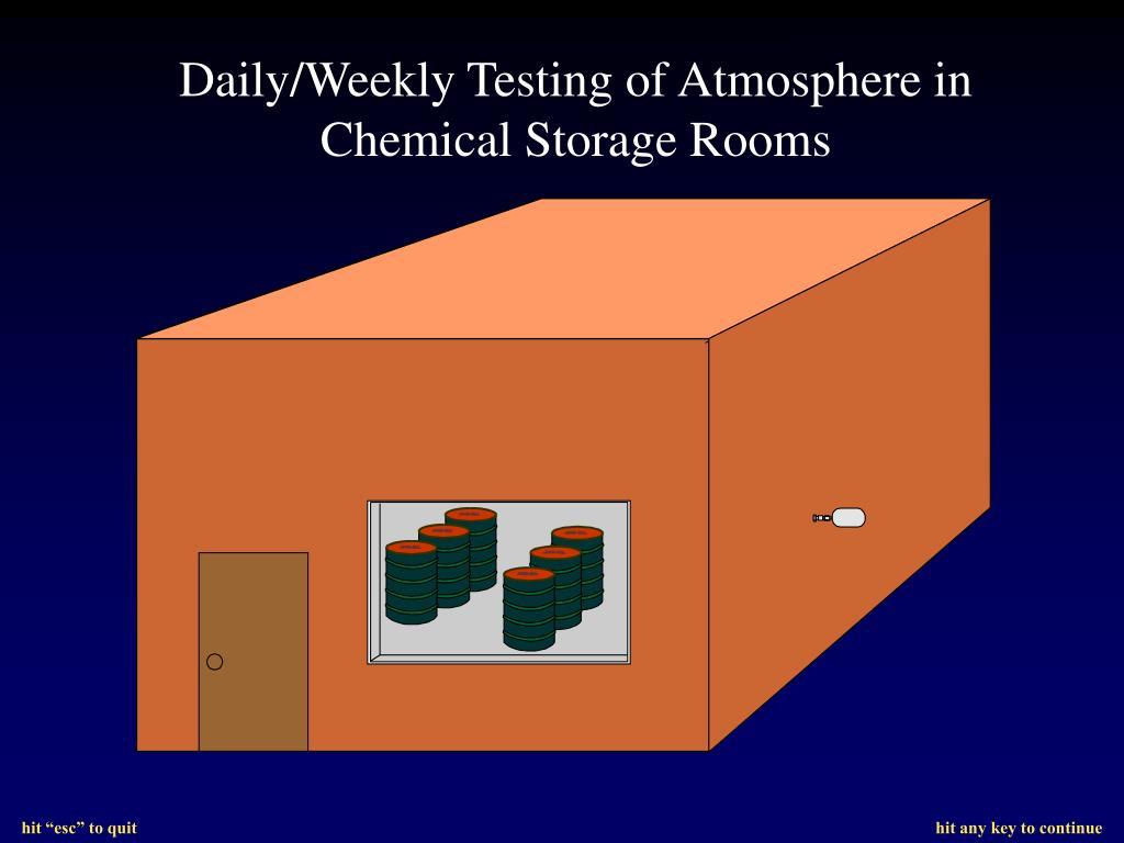 Daily/Weekly Testing of Atmosphere in