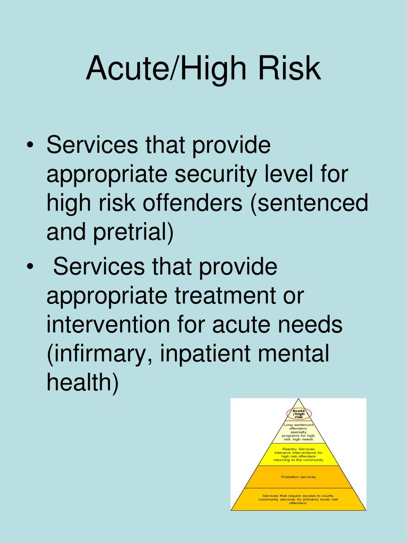 Acute/High Risk
