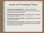 levels of processing theory
