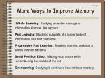 more ways to improve memory