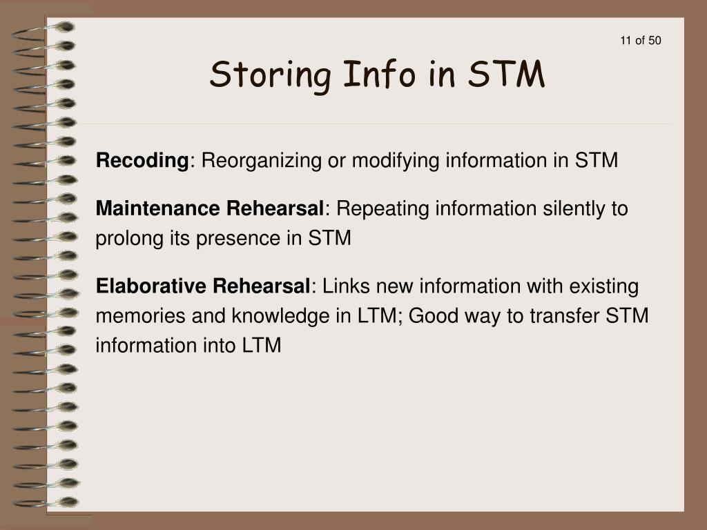 Storing Info in STM