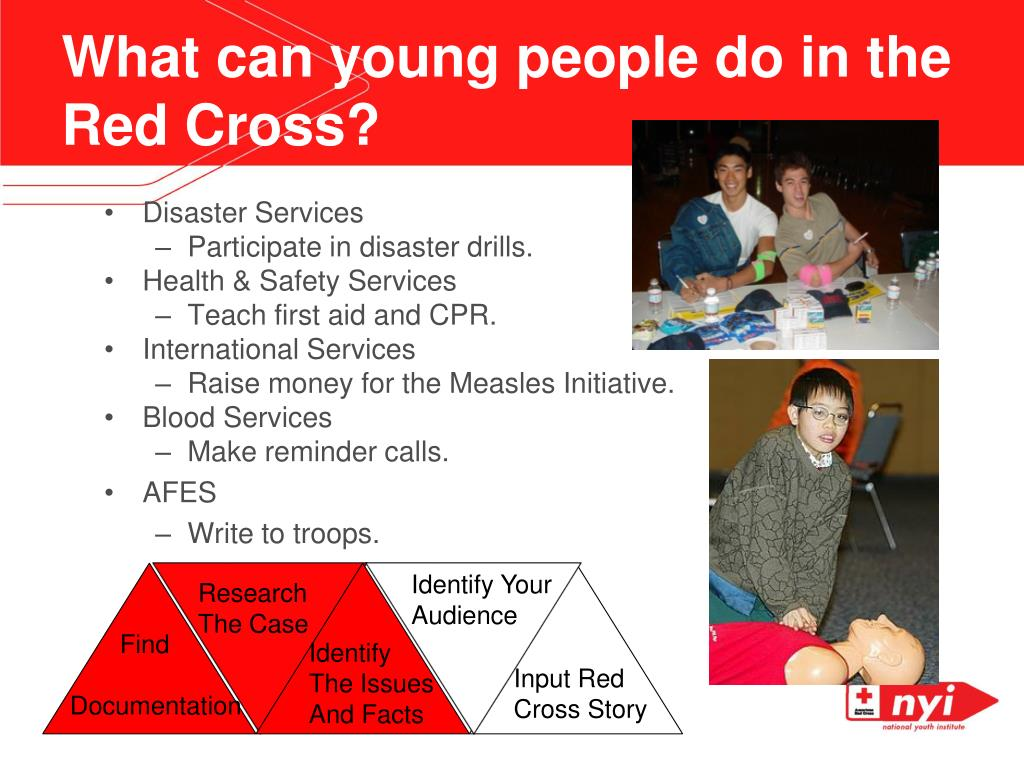 What can young people do in the Red Cross?