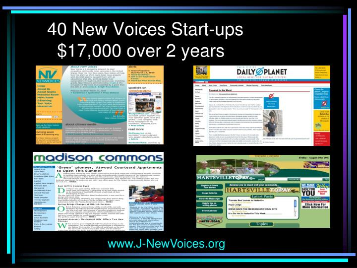 40 New Voices Start-ups