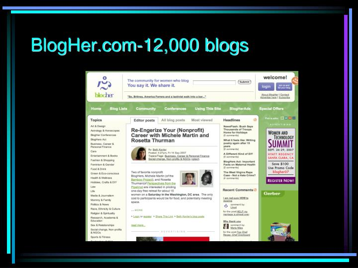 BlogHer.com-12,000 blogs