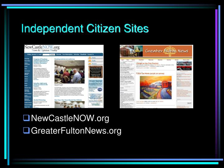Independent Citizen Sites