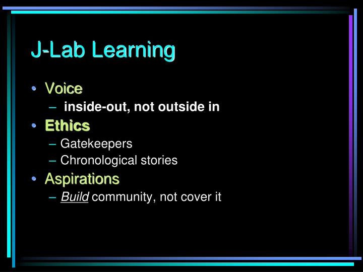J-Lab Learning