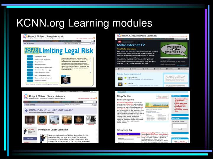 KCNN.org Learning modules