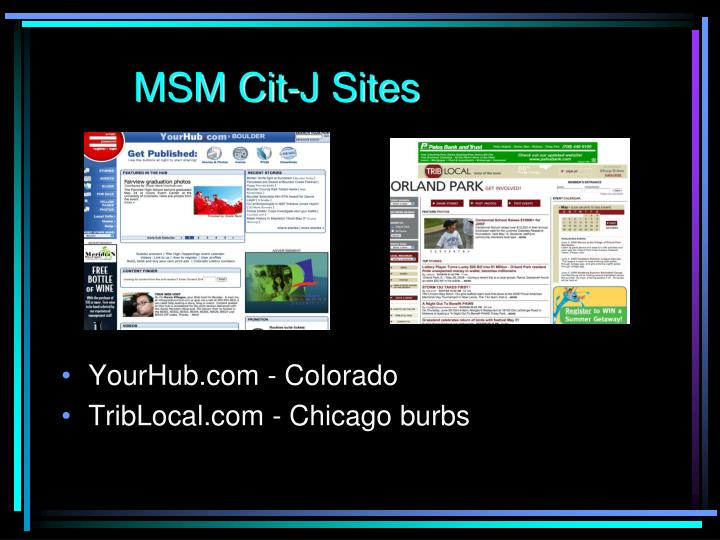 MSM Cit-J Sites