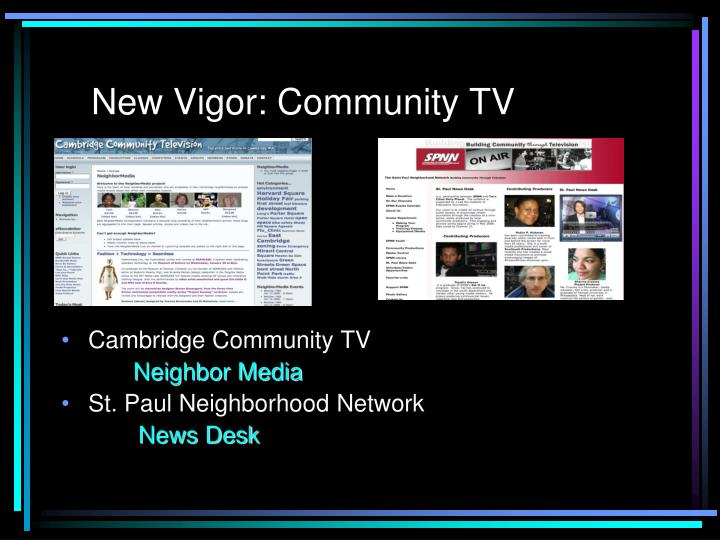 New Vigor: Community TV