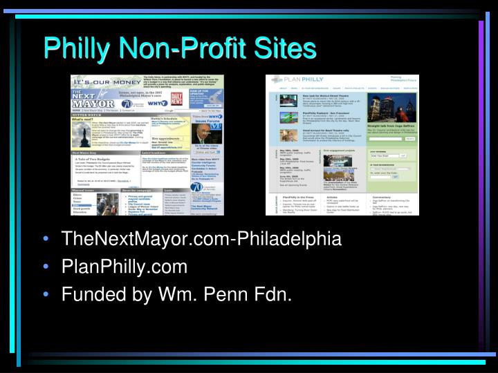 Philly Non-Profit Sites