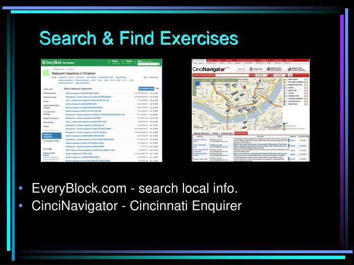 Search & Find Exercises