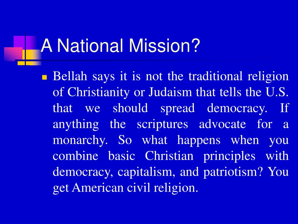 A National Mission?