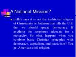 a national mission