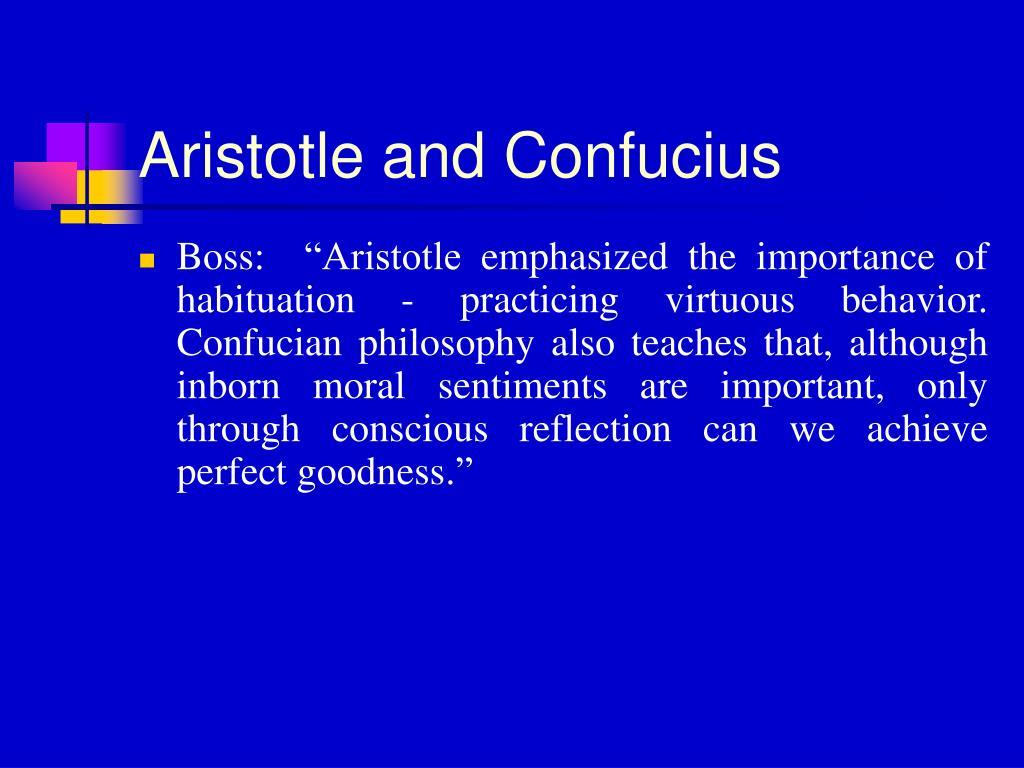 Aristotle and Confucius