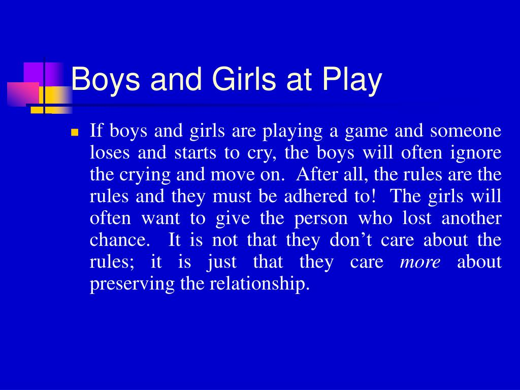 Boys and Girls at Play