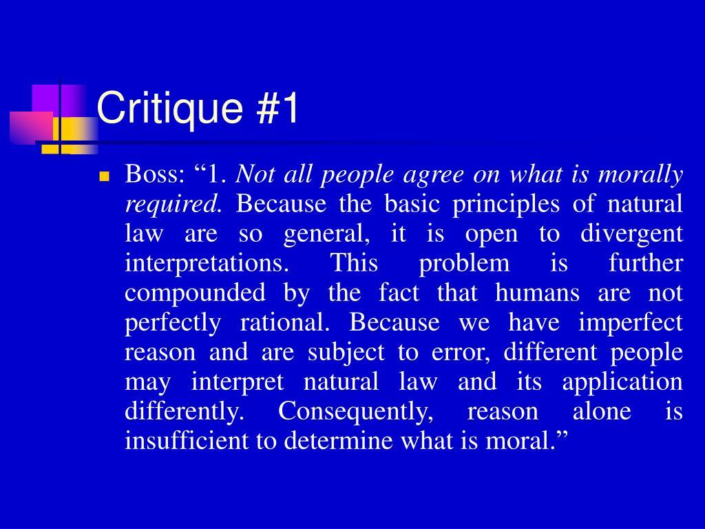 Critique #1