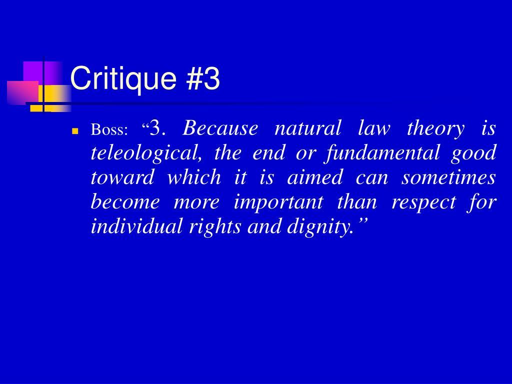 Critique #3