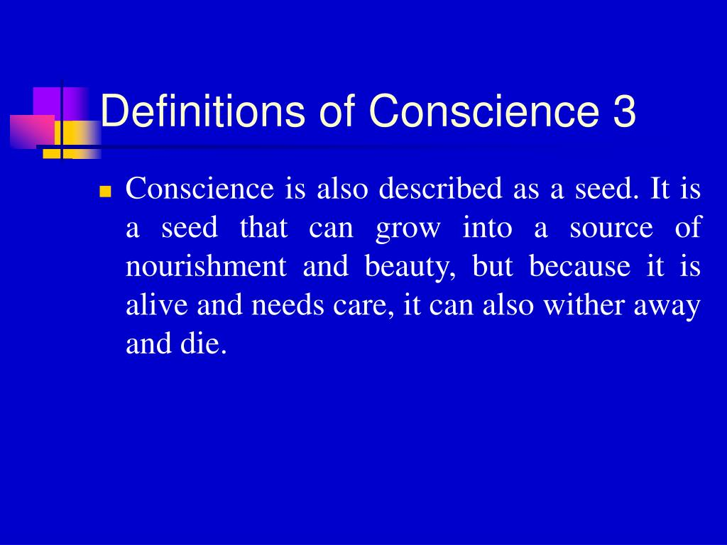 Definitions of Conscience 3