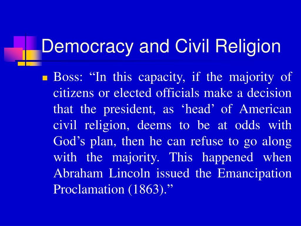 Democracy and Civil Religion