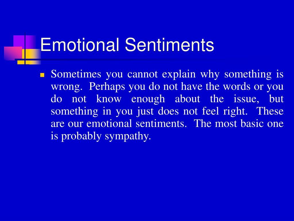 Emotional Sentiments