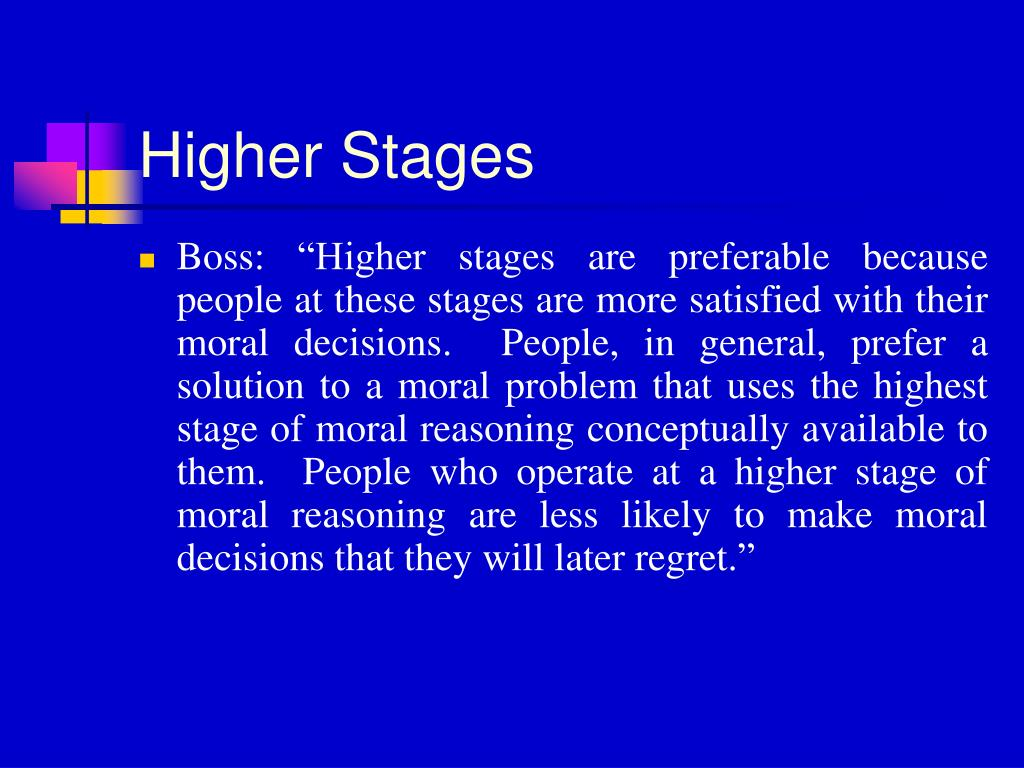 Higher Stages