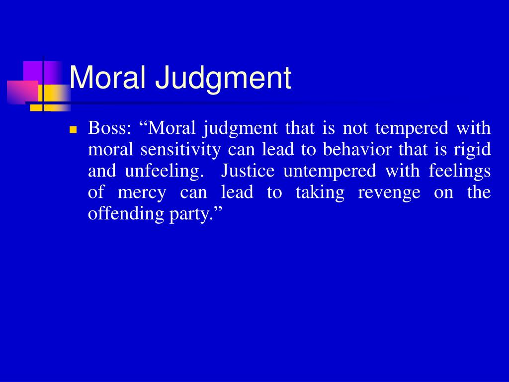 Moral Judgment