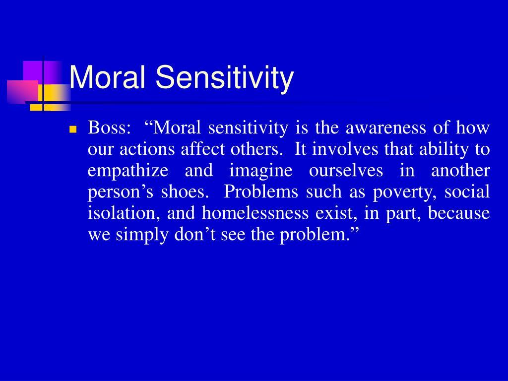 Moral Sensitivity