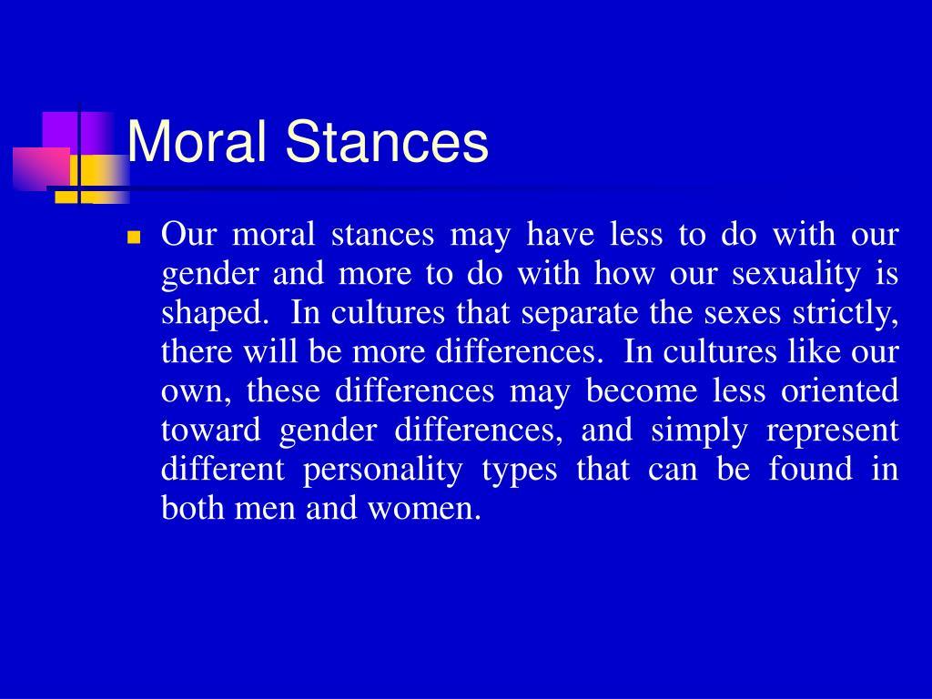 Moral Stances