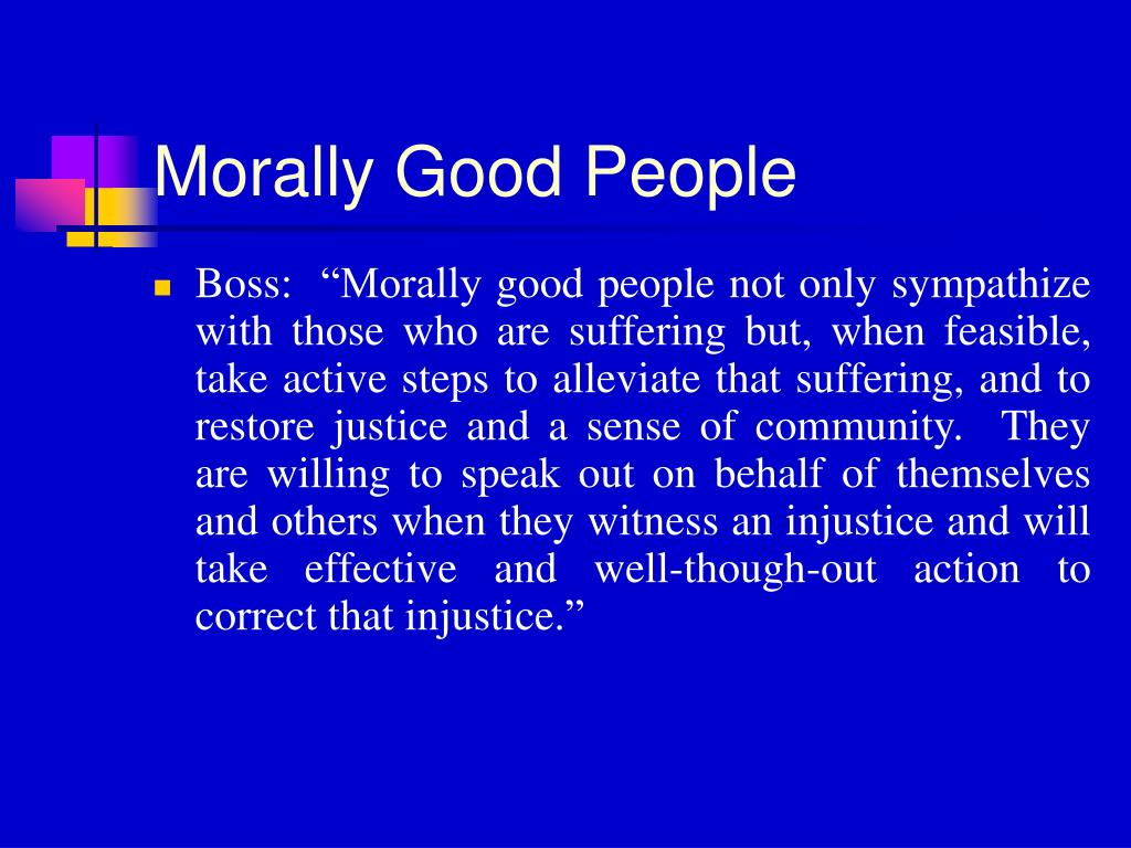 Morally Good People