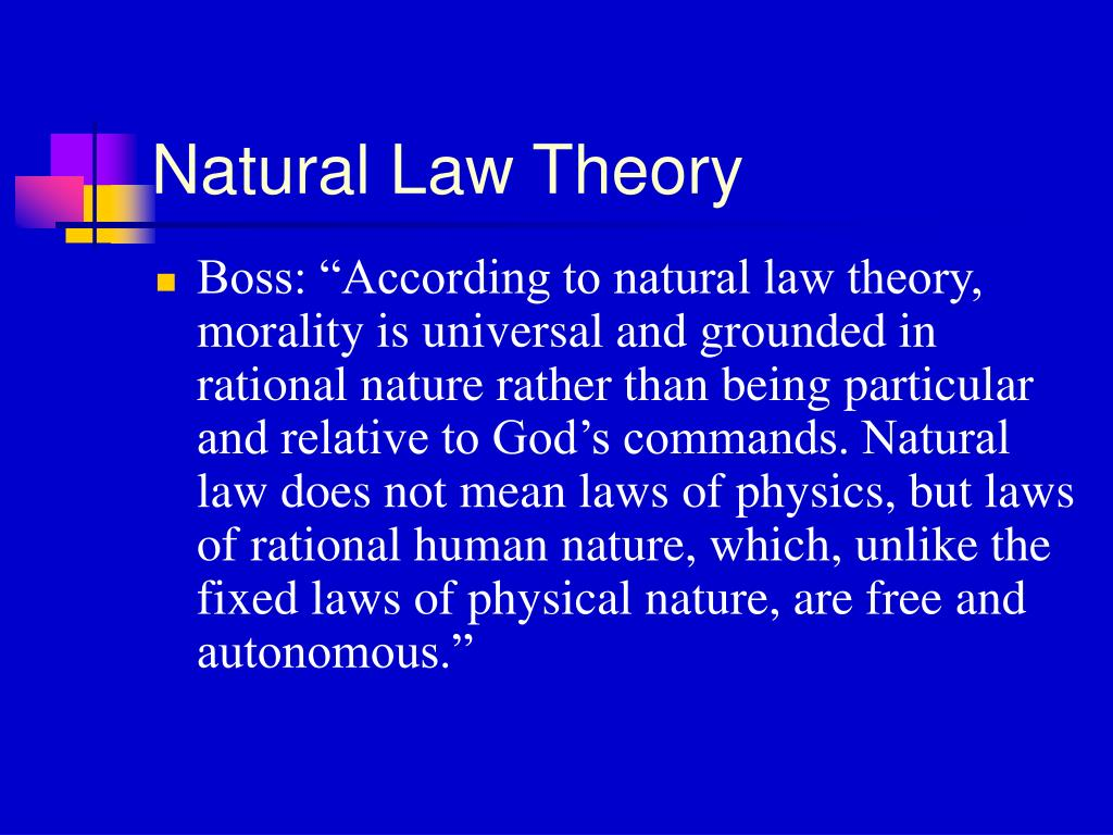 Natural Law Theory