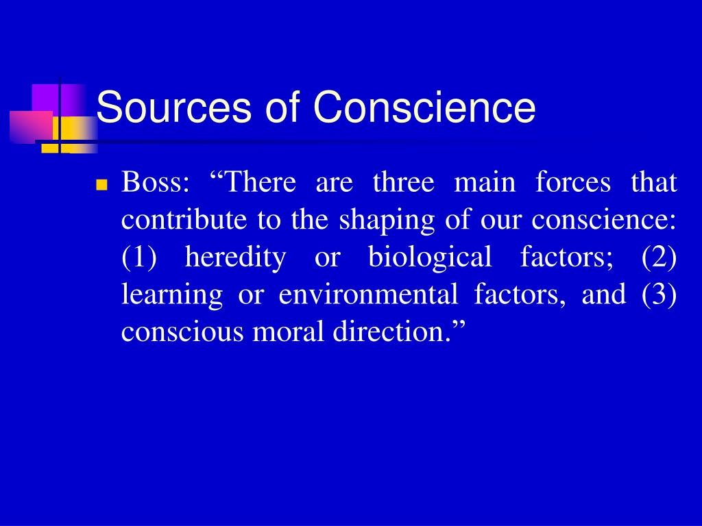 Sources of Conscience