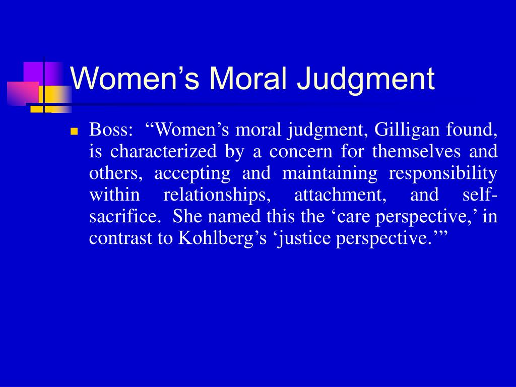 Women's Moral Judgment