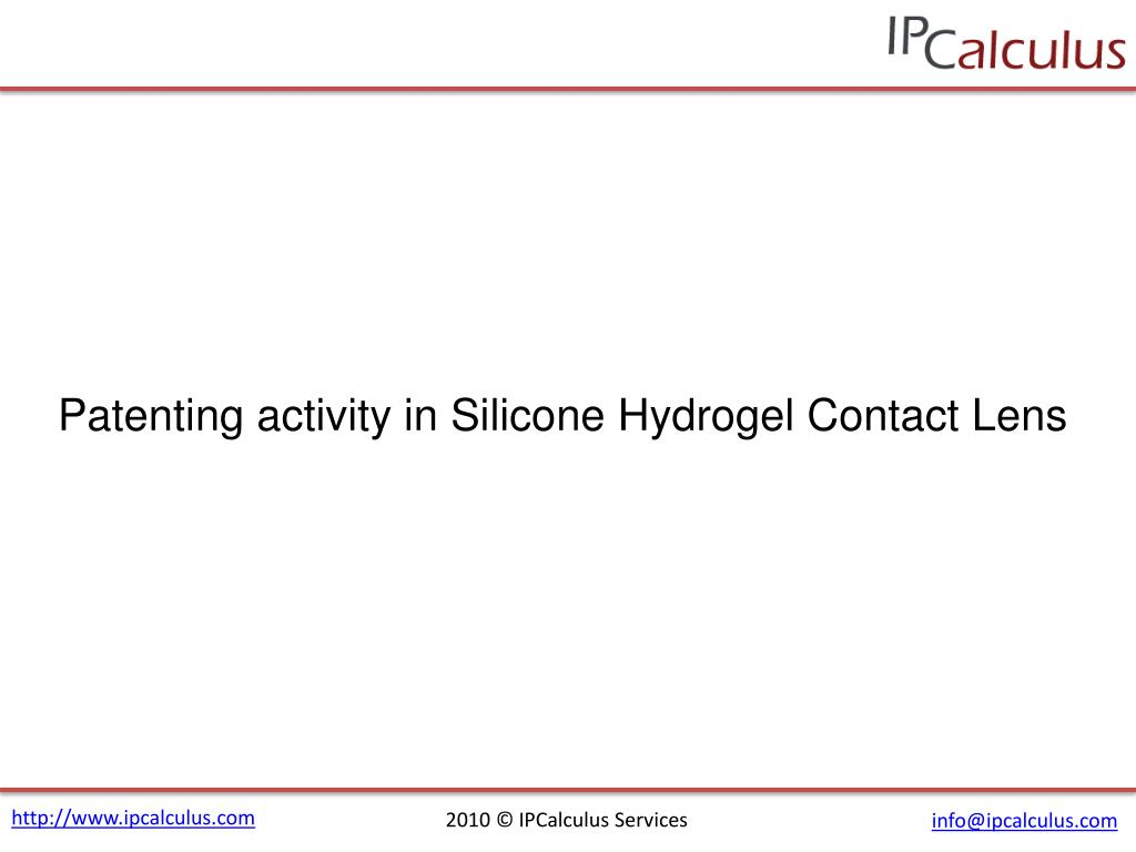 Patenting activity in Silicone Hydrogel Contact Lens