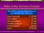 make or buy decisions example14