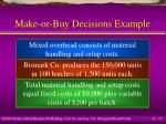 make or buy decisions example15
