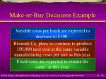 make or buy decisions example18