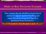 make or buy decisions example21
