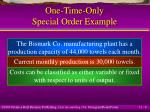 one time only special order example